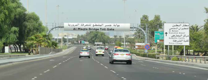 Abu Dhabi announces no toll charges until January 1, 2020