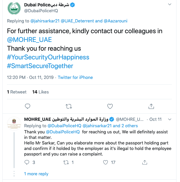 Dubai expat's visa complaint on Twitter reaches authorities