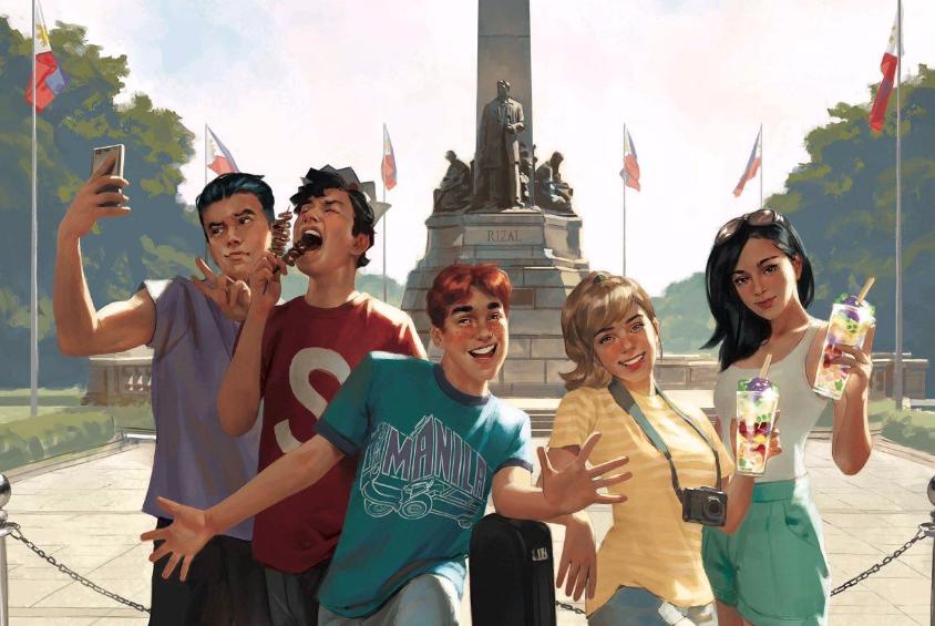 LOOK: 'Archie' gang visits Manila, eats isaw, halo-halo
