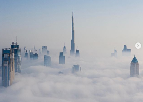 Dubai Crown Prince shares Dubai photo blanketed with fog