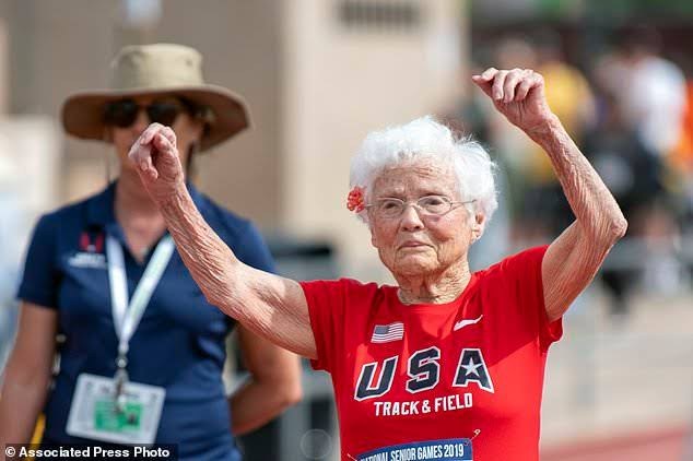 """Julia """"Hurricane"""" Hawkins wins two gold medals, breaks record as the oldest to compete in the American track"""