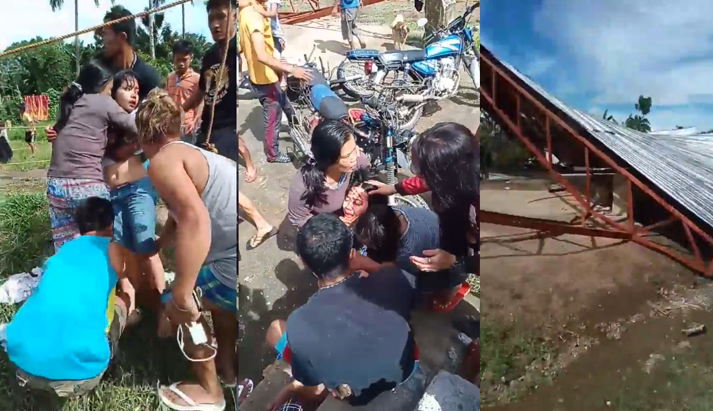 WATCH: Residents cry for help as open court collapses following Mindanao quake