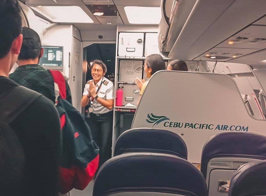 LOOK: Cebu Pacific Lady pilot receives praises after safe landing amid turbulent flight