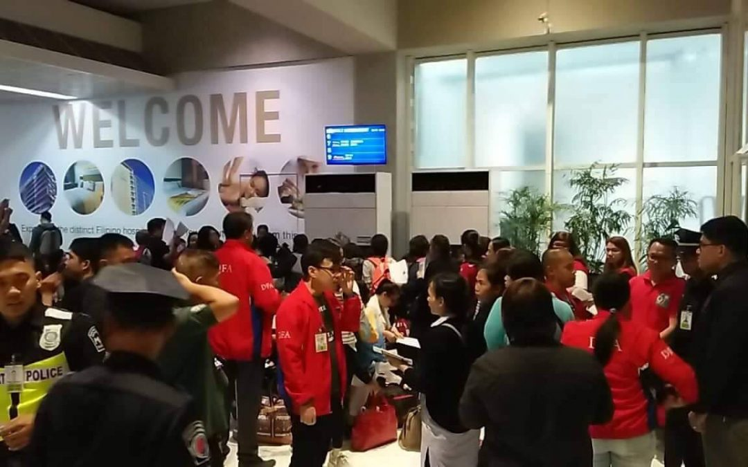 73 OFWs repatriated from UAE arrive in PH
