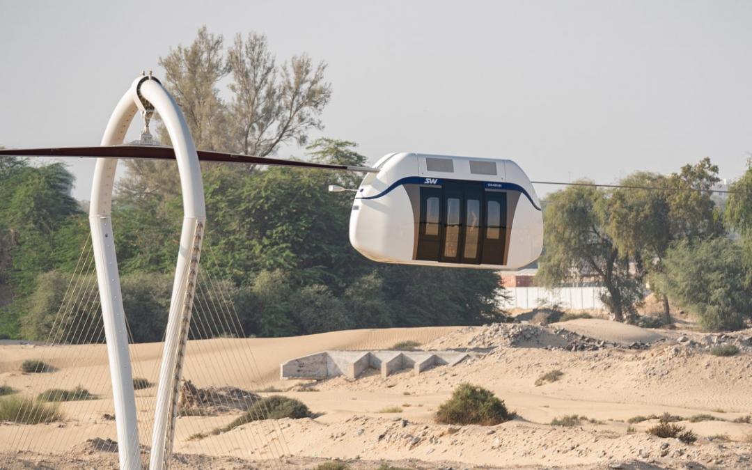 Sharjah's 'Skyway' hanging transport system begins experimental phase