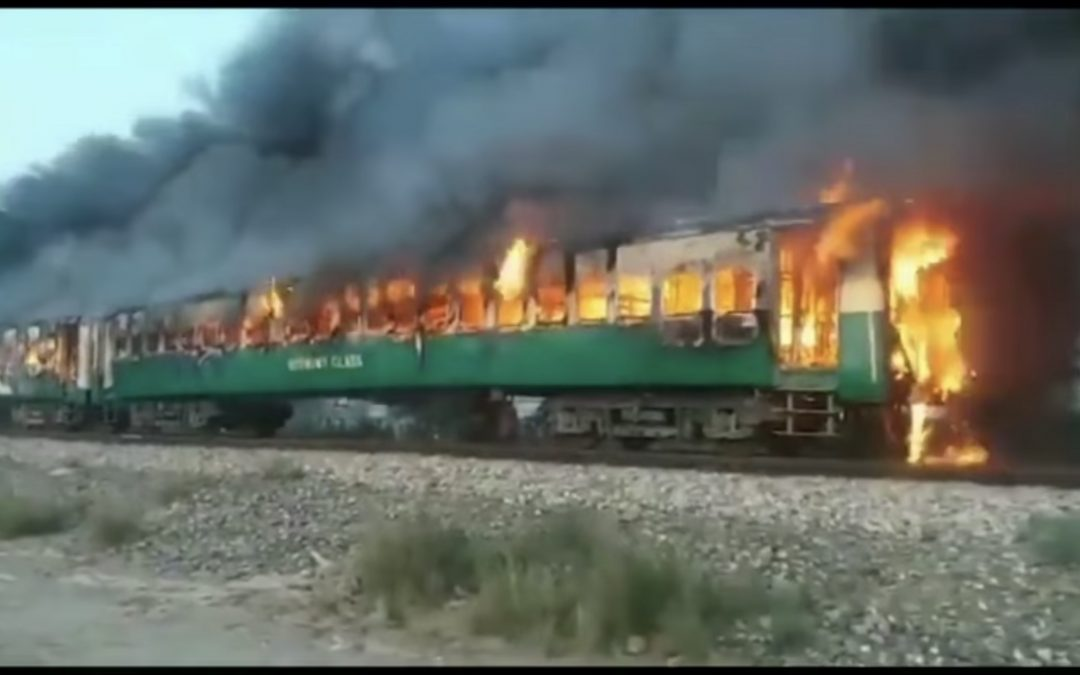 Over 65 people dead in Pakistan train fire