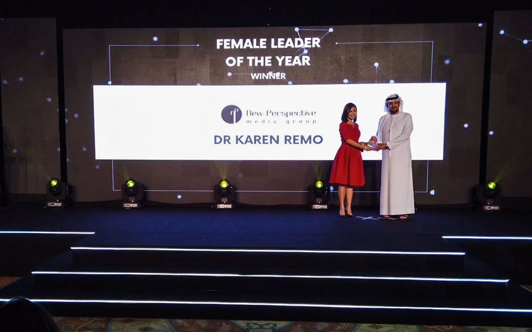 WATCH: Dubai-based Filipina's winning moment as 'Female Leader of the Year' in Middle East Awards