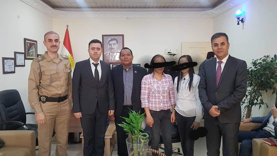 PH Embassy in Iraq repatriates two Filipina victims of molestation, illegal recruitment