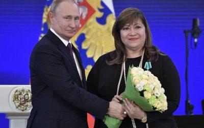 Russian Pres. Putin honors Filipina with 'Order of Friendship' award