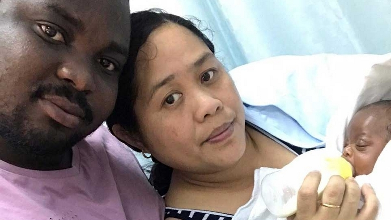 Fil-Ghanan couple's baby survives lung problem