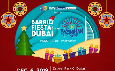 Filipinos to enjoy star-studded holiday celebrations at Barrio Fiesta Dubai and Bayanihan 2019