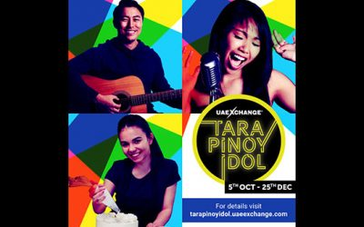 Show your unique talent and live like a star, with UAE Exchange 'Tara Pinoy Idol'
