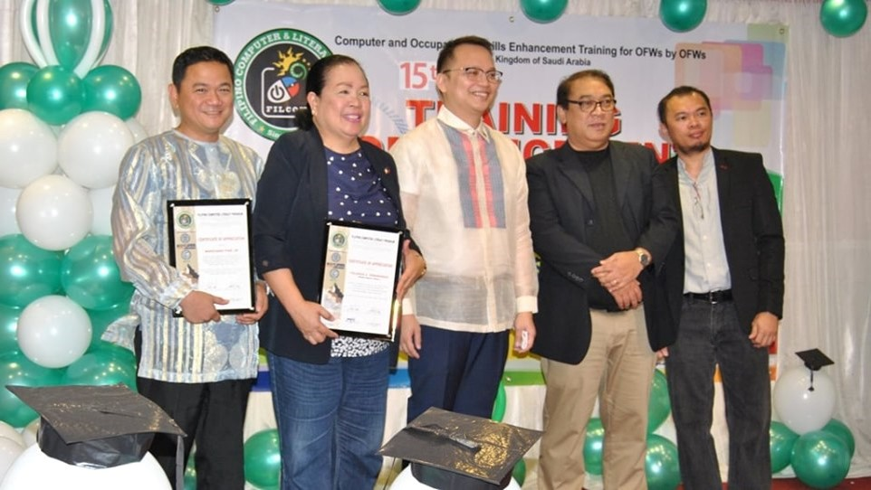 160 OFWs in Jeddah finish technical, vocational courses