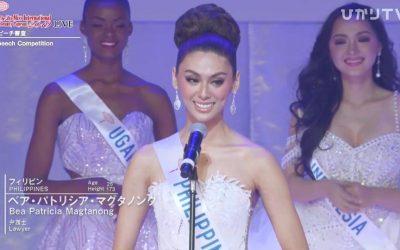WATCH: Miss International 2019 PH bet Patch Magtanong's Top 8 final speech