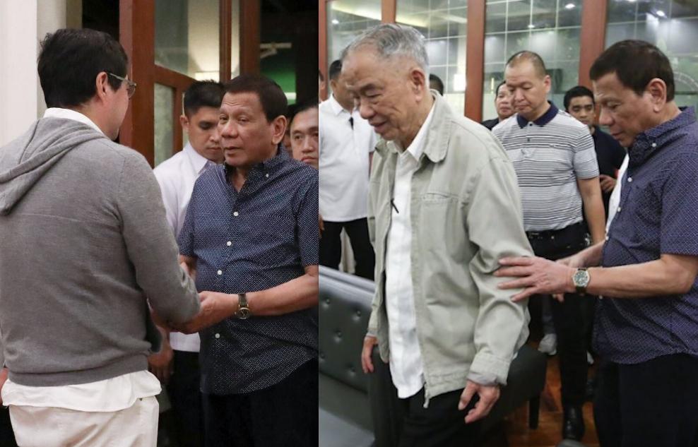 Duterte visits wake of John Gokongwei Jr., Lucio Tan Jr.