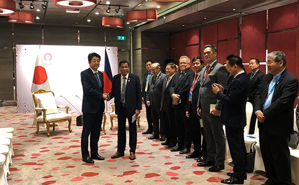 Duterte apologizes to Prime Minister Abe, regrets cutting short his Japan trip