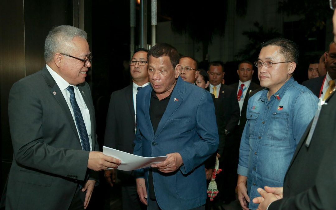 Duterte arrives in Thailand for the 35th ASEAN Summit