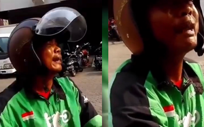 Indonesia motorcycle driver's crying video goes viral after customer cancels order