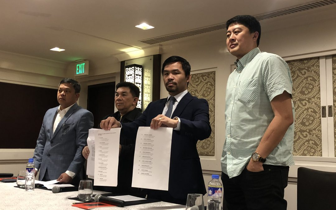 Pacquiao sues 21 individuals over alleged game-fixing schemes