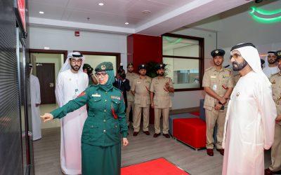 Sheikh Mohammed bin Rashid visits Smart Police Station at Al Murraqabat Police Station