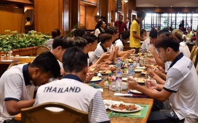 Thai football team complains about food rations at SEA Games hotel