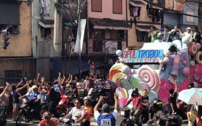 Coco Martin, Isko Moreno hold '3pol Trobol: Huli ka Balbon' motorcade in Manila