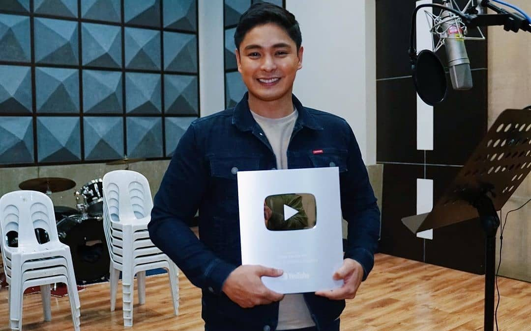 LOOK: Coco Martin receives 'silver play button' on Youtube