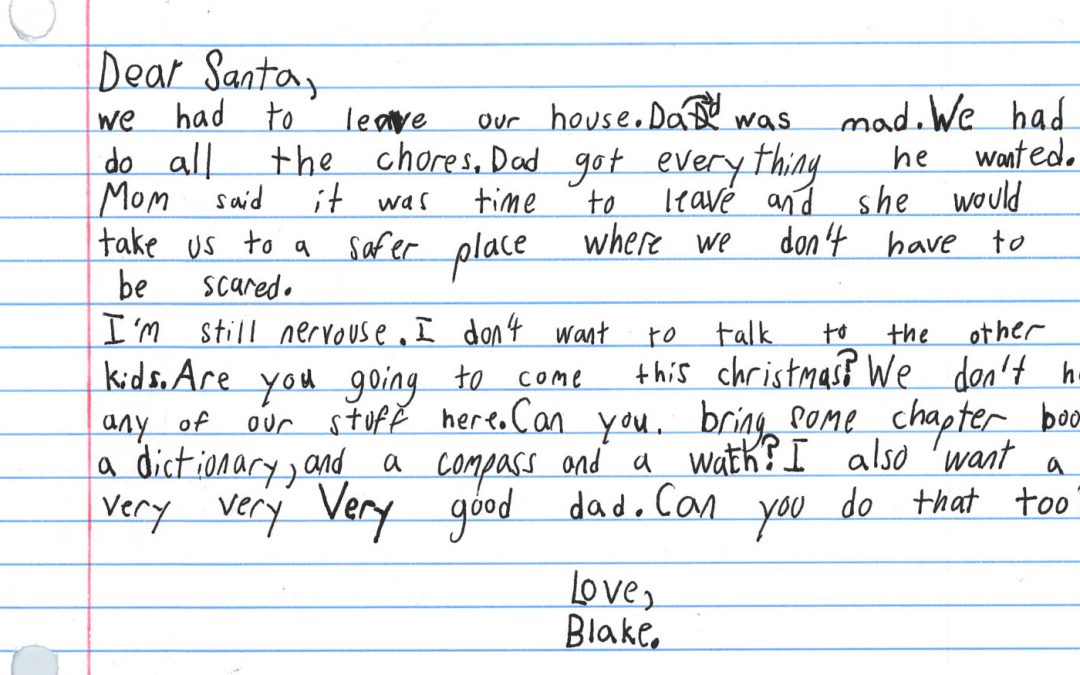 "7-year-old boy wishes for a  ""very good dad' to Santa for Christmas"
