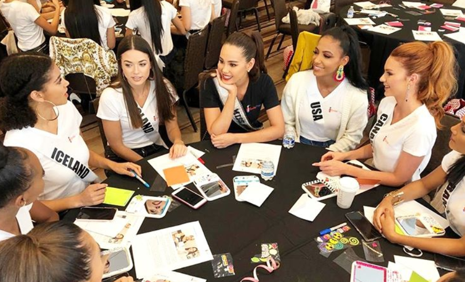 LOOK: Catriona Gray meets Miss Universe 2019 candidates