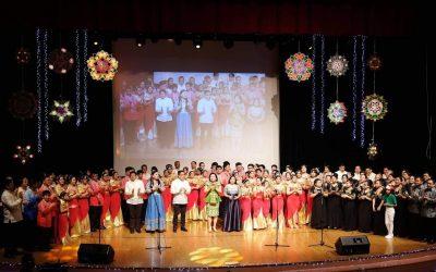 Filipino community groups sing in unison at 'Paskong Pinoy sa Abu Dhabi'