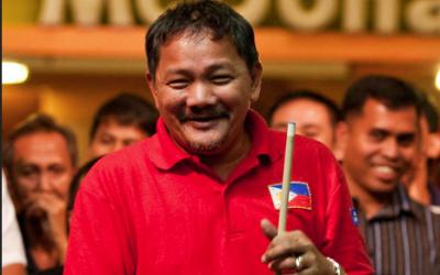 Billiard legend 'Bata' Reyes dominates Thai foe in carom opening