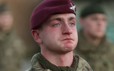 Brother of Afghanistan war hero bursts into tears as he joins military
