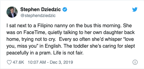 Pinay nanny calling kid in PH tugs at heartstrings of Australian journo