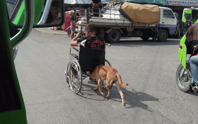 VIRAL: Dog named 'Digong' helps master with his wheelchair