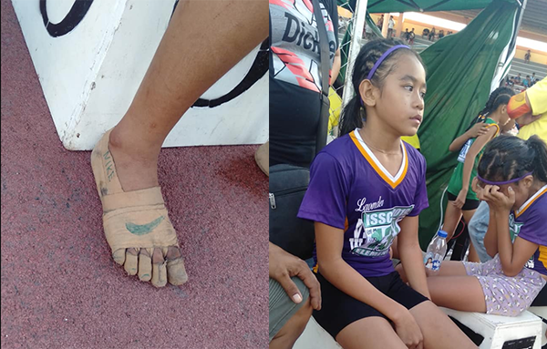 LOOK: Resourceful 11-year-old girl's version of 'Nikes', wins 3 gold from sprint