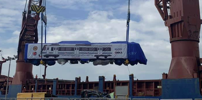PNR's new train arrives from Indonesia
