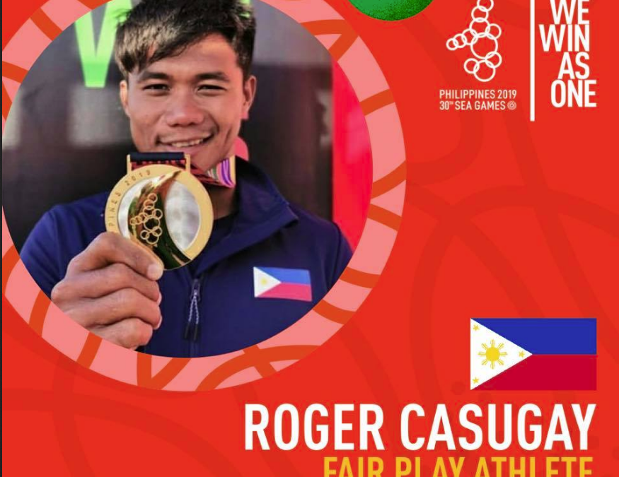 Roger Casugay wins Fair Play Athlete Award