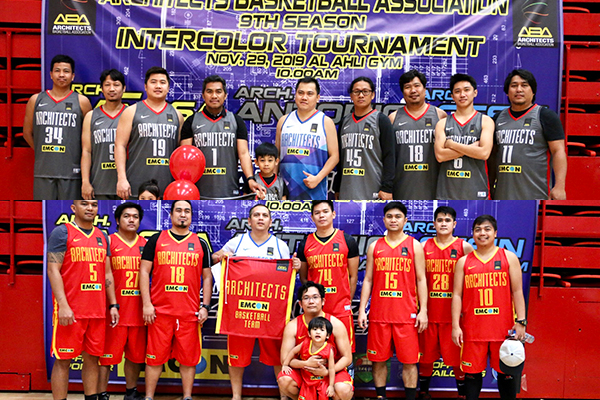 Dubai Pinoy architects open 2019 Inter-color Tournament