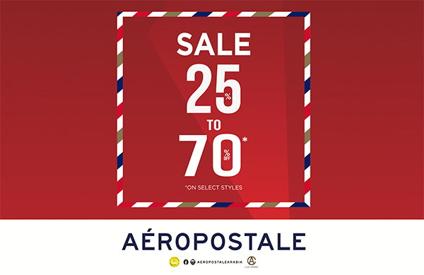 Enjoy up to 70% off on Aeropostale's Year-End Sale
