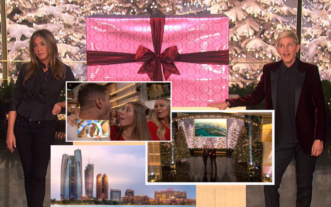 WATCH: Ellen, Jennifer Aniston give studio audience a 6-day trip to Abu Dhabi as Christmas gift