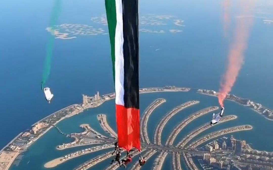 UAE sets world record for largest flag flown in free fall