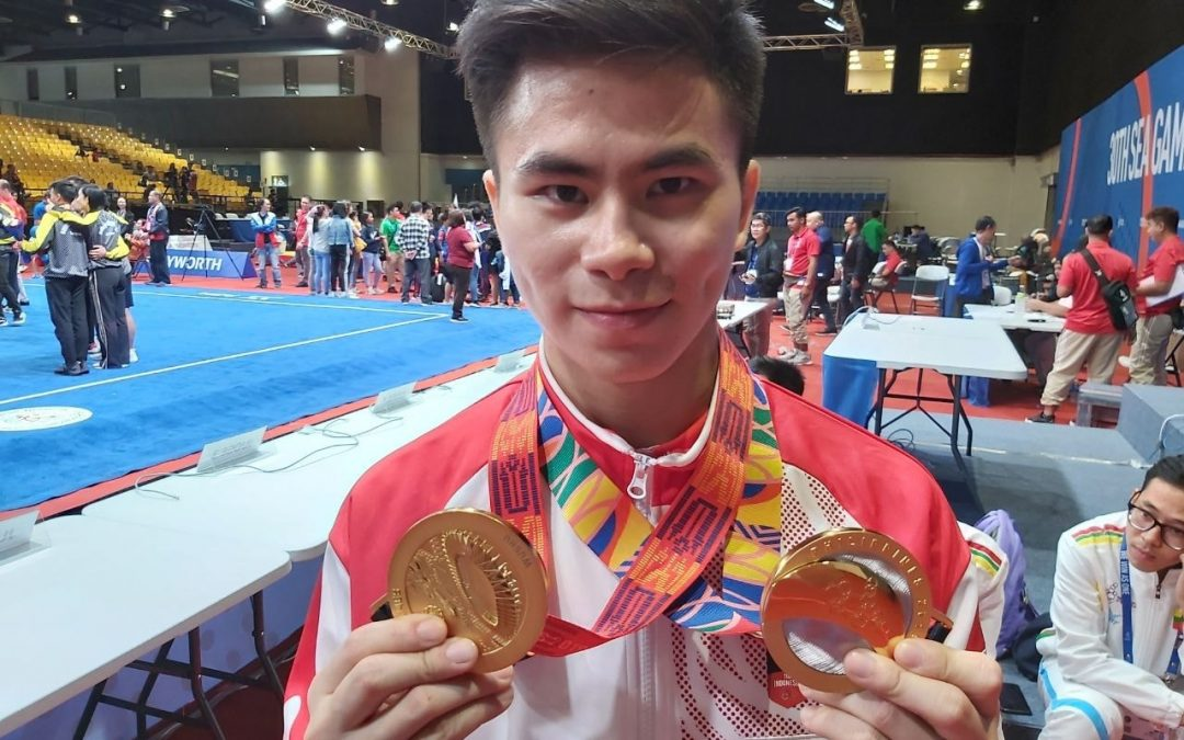 LOOK: Indonesian athlete dedicates SEA Games medals to father who passed away while he was competing