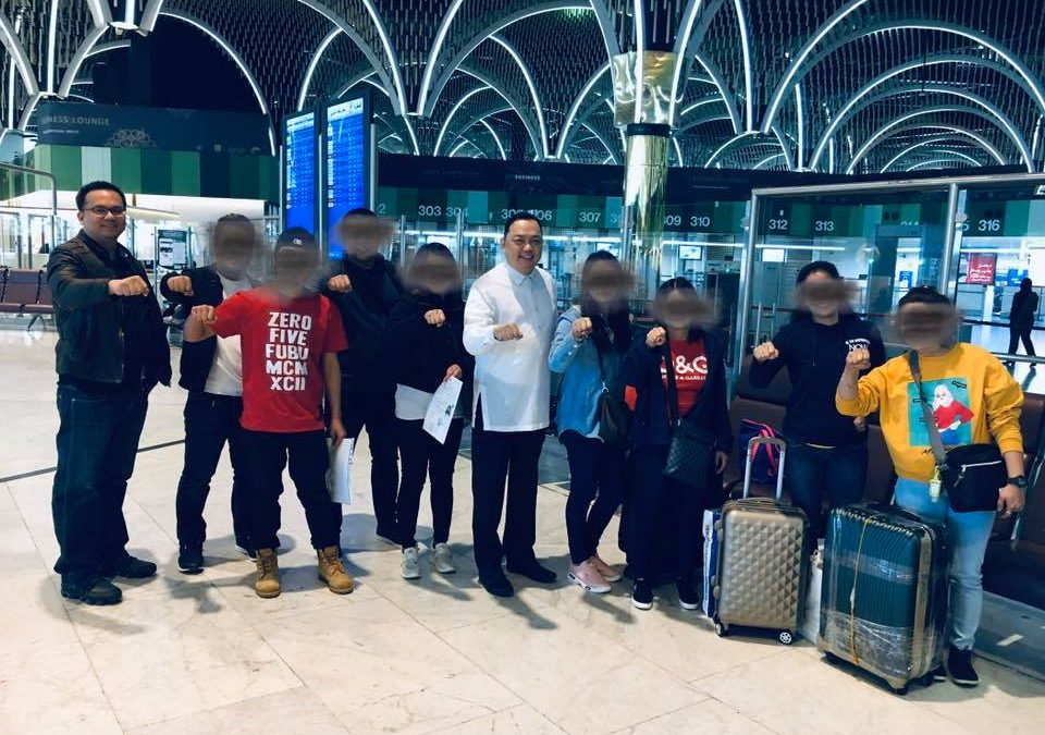 8 illegal Pinoy workers repatriated from Iraq