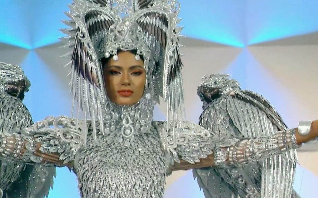 PH bet Gazini Ganados wears eagle-inspired national costume in Miss Universe