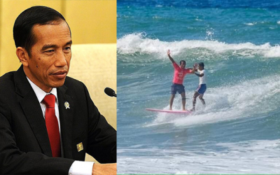 Widodo praises Pinoy 'hero surfer' for rescuing Indonesian rival
