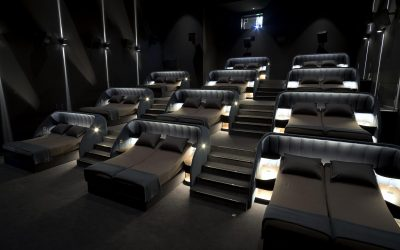 Staycation vibe: This Swiss movie house has revamped seats into double beds