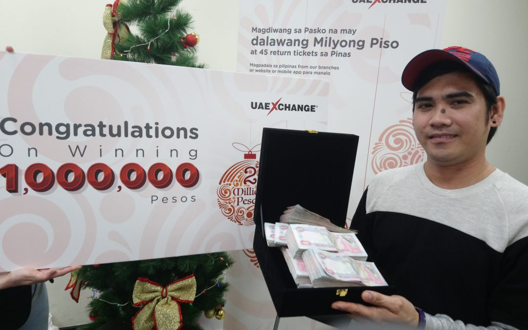 Dubai Pinoy florist wins Php1million in remittance center raffle