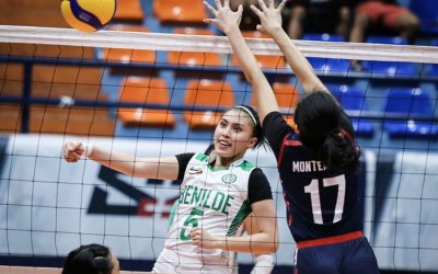 CSB sweeps volleyball games against Letran at NCAA Season 95