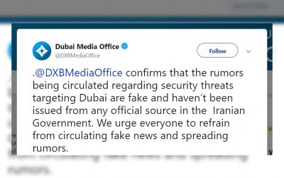 Security threats in the emirate are fake — Dubai Media Office
