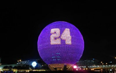 MOA's Globamaze lights up into purple and gold as tribute for Kobe Bryant